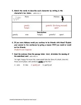 Reading Wonders Series Start Smart lesson 4th grade U1W0