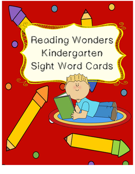 Reading Wonders Sight Word Cards