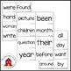 Reading Wonders Sight Word Flash Cards