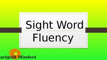 Reading Wonders Sight Word Fluency Units 2 and 3