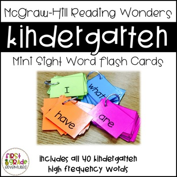 Reading Wonders Sight Word Mini-Flash Cards [Kindergarten]