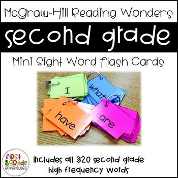 Reading Wonders Sight Word Mini-Flash Cards [Second Grade]