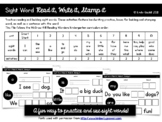 Reading Wonders Kindergarten Sight Word Read it, Write it, Stamp it