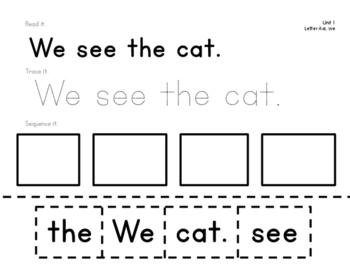 Reading Wonders Kindergarten Sight Word Sentences Bundle