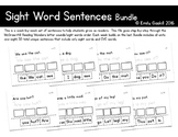 Reading Wonders Kindergarten Sight Word Sentences Bundle