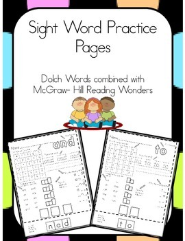 Reading Wonders Sight Words Unit 4