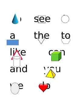 Reading Wonders Sight word list