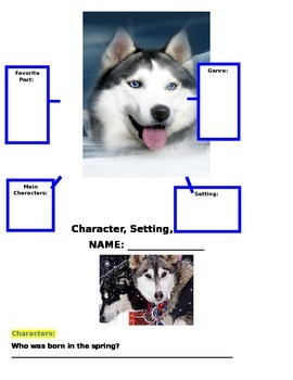 Reading Wonders Sled Dogs Run Literature Packet