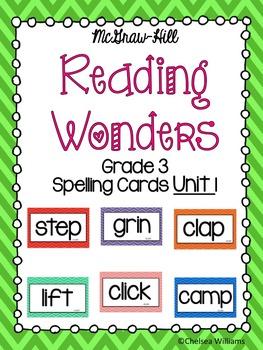 WONDERS 3rd Grade Spelling Words Unit 1