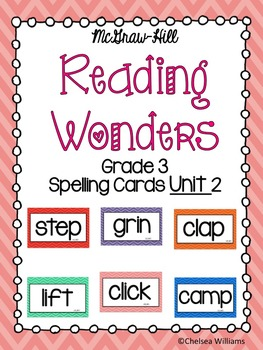 WONDERS 3rd Grade Spelling Words Unit 2