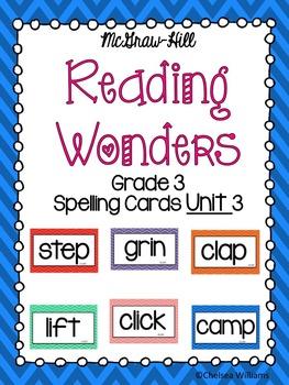 WONDERS 3rd Grade Spelling Words Unit 3