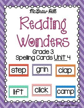 WONDERS 3rd Grade Spelling Words Unit 4