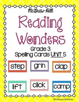 WONDERS 3rd Grade Spelling Words Unit 5