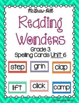 McGraw-Hill Wonders 3rd Grade Spelling Words Unit 2