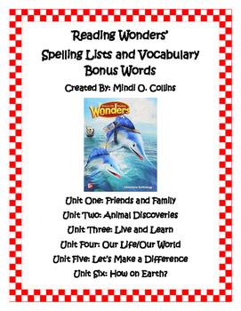 Reading Wonders' Spelling and Bonus Words