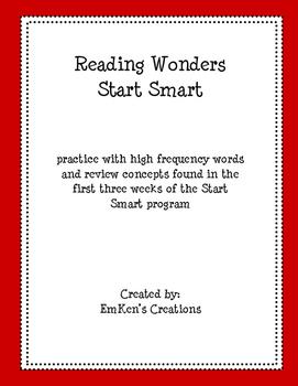 Reading Wonders Start Smart 1st Grade