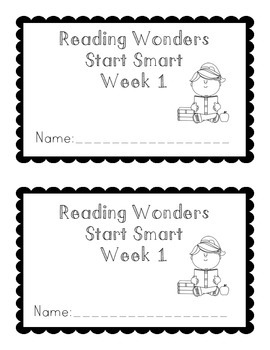 Reading Wonders Start Smart Booklet Grade 1