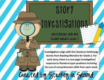 Reading Wonders Story Investigations Grade 2 Units 1-6 Bundled