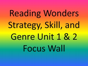 Reading Wonders - Strategy, Skill, and Genre - Focus Wall