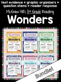 Third Grade Reading Wonders (ALL 6 UNITS!) Close Read Graphic Organizers