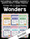Third Grade Reading Wonders (ALL 6 UNITS!) Graphic Organizers - Bundle