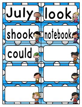 Reading Wonders Third Grade Spelling Word Wall Unit 4