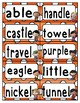 Reading Wonders Third Grade Spelling Word Wall Unit 6
