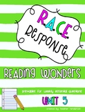 Reading Wonders Third Grade Unit  5 Bundle RACE Strategy