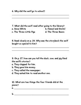 Reading Wonders Third Grade Weekly Selection Quizzes