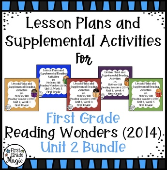 First Grade Reading Wonders UNIT 2 Bundle