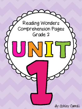 Reading Wonders Unit 1 Comprehension Pages Grade 2
