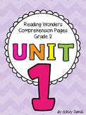 Reading Wonders Unit 1 Comprehension Pages Grade 2