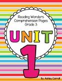 Reading Wonders Unit 1 Comprehension Pages Grade 3