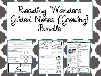 Reading Wonders Unit 1 Guided Notes 4th grade
