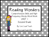 Reading Wonders Unit 1 High-Frequency Words Word Work and