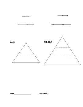 Reading Wonders Unit 1 Spelling Triangles