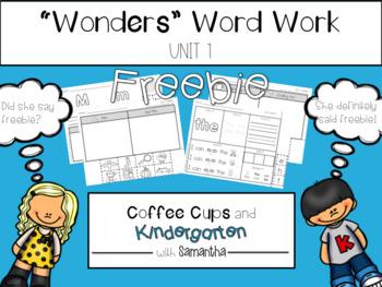 Reading Wonders Unit 1. Week 1 Freebie