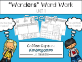 Reading Wonders Unit 1. Week 1 Freebie