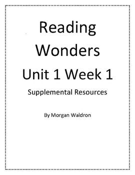 Reading Wonders Unit 1 Week 1 Grade 2 Resources