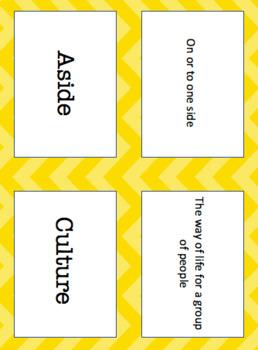 Reading Wonders Unit 1 Week 2 Vocabulary Pack