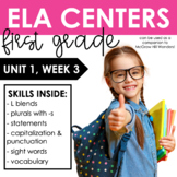 Reading Wonders First Grade Unit 1, Week 3
