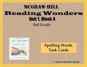 Reading Wonders Unit 1, Week 4 Spelling Task Cards