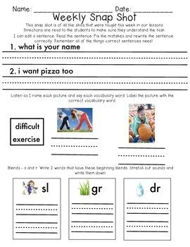 Reading Wonders 1st Grade Unit 1 Week 5 Weekly Assessment