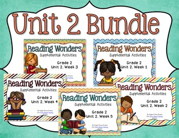 Reading Wonders Unit 2 BUNDLE for 2nd Grade