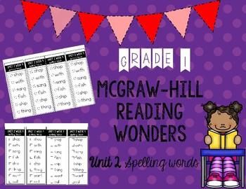 Wonders Unit 2 Spelling Words