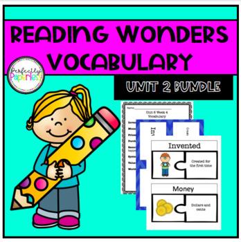 Reading Wonders Unit 2 Vocabulary Bundle