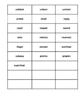 Reading Wonders Unit 2 Week 1 Approaching Spelling Word Sort