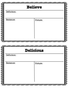 Reading Wonders Unit 2 Week 1 Vocabulary Pack