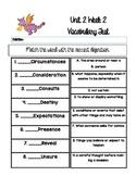 Reading Wonders Unit 2 Week 2 Vocabulary Test 5th grade