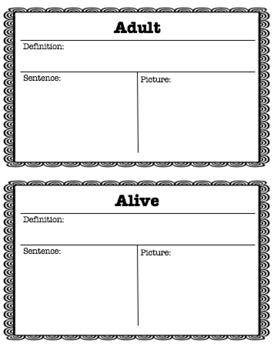Reading Wonders Unit 2 Week 4 Vocabulary Pack